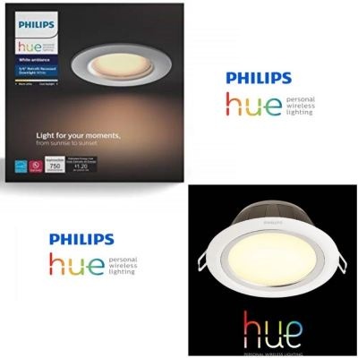 "PHILIPS HUE GARNEA 51107 5"" ROUND DOWNLIGHT WHITE AMBIANCE 7W 600 LUMEN"
