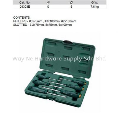 09303E - Pc Acetate Combination Screwdriver Set