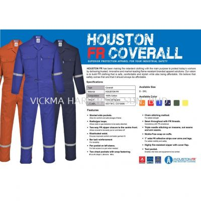 HOUSTON FR COVERALL