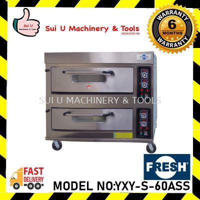 FRESH YXY-S-60ASS 0.2kW/230V/50Hz 2 Layer Gas Oven 0-300�� Bakery Equipment