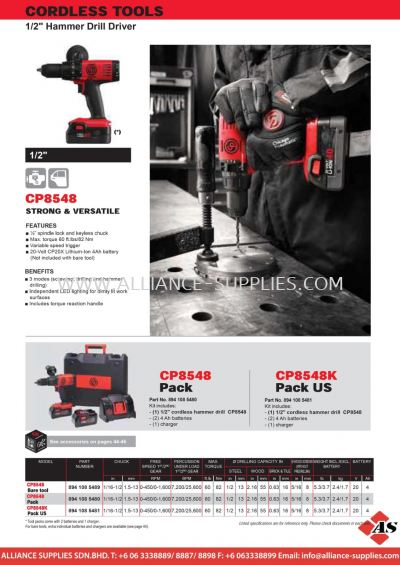 CP Hammer Drill Driver