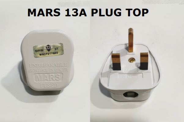 MARS 13A PLUG TOP (SIRIM) FULL COPPER