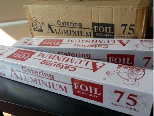 450mm x 1.1kg ALUMINIUM FOIL (6 ROLLS)