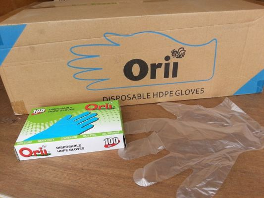 HDPE DISPOABLE GLOVE (100 PCS X 50 BOXSE)