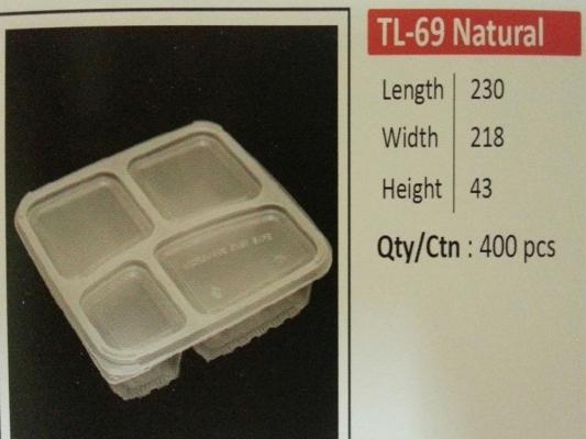 TL-69 NATURAL BASE+LIDS (400pcs)