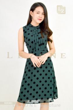 635383 PLOKA DOT SLEEVELESS DRESS【1ST 10% 2ND 15% 3RD 20%】