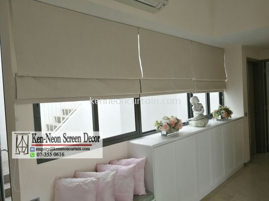 Custom make and installtion Roman Blinds (jb, kulai, gelang patah, ulu tiram, Iskandar, Mouth Austin, etc and Singapore)
