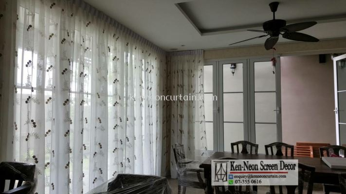 sheer panel curtains design and installation