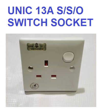 UNIC 13A SWITCH SOCKET 13A S/S/O (SIRIM)