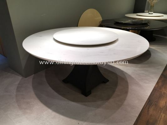 8 Seater Marble Dining Table - White Marble