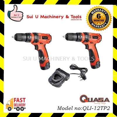 QUASA QLI-12TP2 Twin Pack (12.0V 2-Speed LI-ION Cordless Impact Drill)