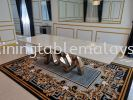 Modern Marble Dining Table - Ariston White Marble  Marble Dining Table