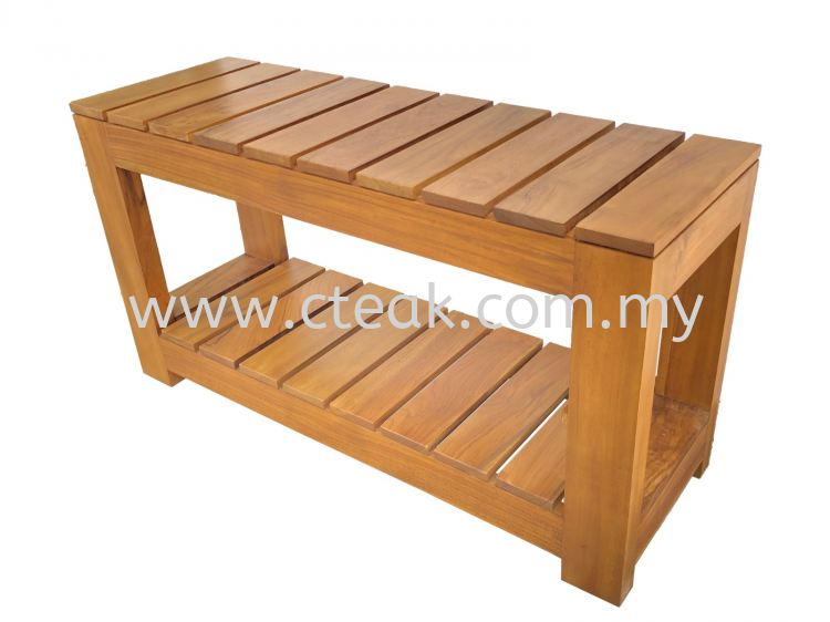 Wooden Bench 1 Tier Shoe Rack