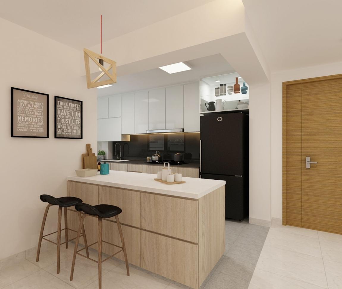 新山3d厨房设计 新山 / 柔佛 厨房 3D设计图