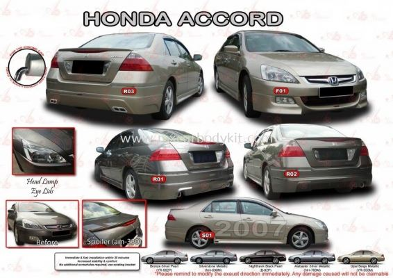 HONDA ACCORD 2007 AM STYLE BODYKIT + SPOILER