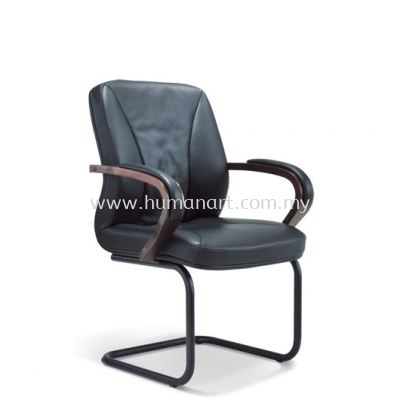 MERCU DIRECTOR VISITOR LEATHER CHAIR WITH EPOXY BLACK CANTILEVER BASE