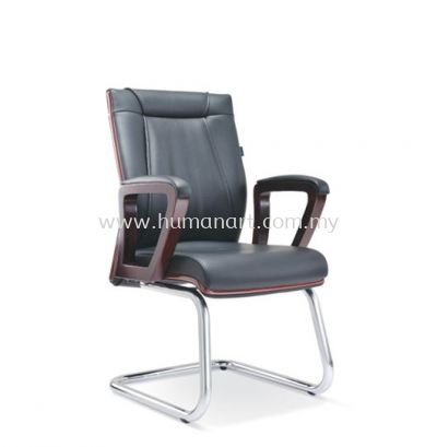 RIANA DIRECTOR VISITOR LEATHER CHAIR WITH CHROME CANTILEVER BASE