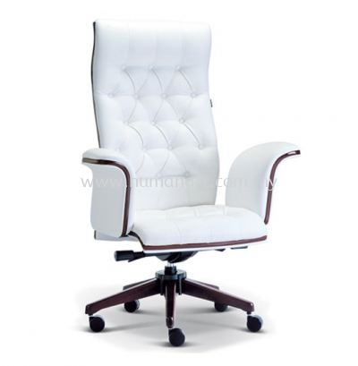 PARAGON DIRECTOR HIGH BACK LEATHER CHAIR WITH WOODEN TRIMMING LINE