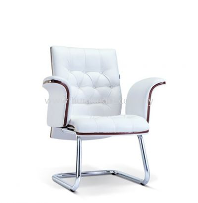 PARAGON DIRECTOR VISITOR LEATHER CHAIR WITH WOODEN TRIMMING LINE ASE 2184