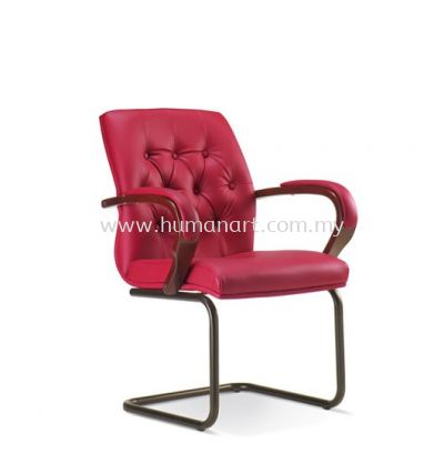URBAN DIRECTOR VISITOR LEATHER CHAIR WITH EPOXY BLACK CANTILEVER BASE ASE 1054