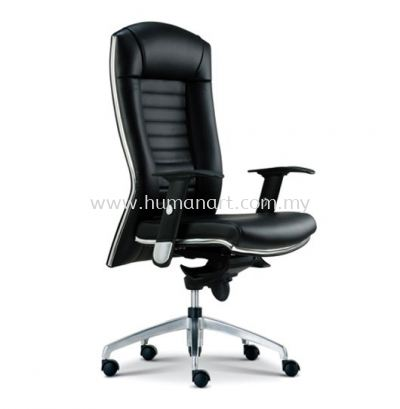 AIM DIRECTOR HIGH BACK LEATHER CHAIR WITH CHROME TRIMMING LINE ASE 1011