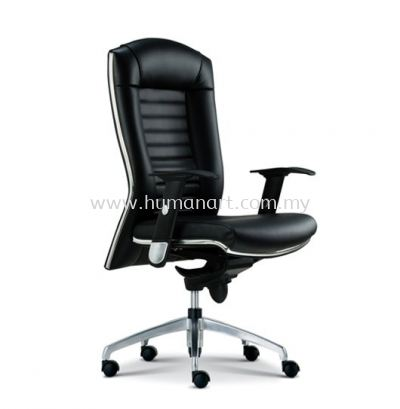 AIM DIRECTOR MEDIUM BACK LEATHER CHAIR WITH CHROME TRIMMING LINE ASE 1012