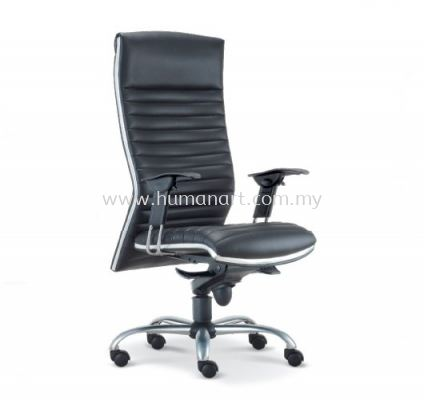 ALPHA DIRECTOR HIGH BACK LEATHER CHAIR WITH CHROME TRIMMING LINE ASE 618