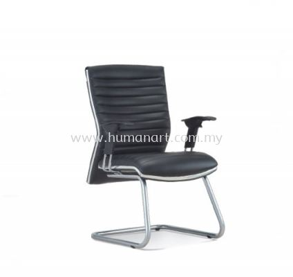 ALPHA DIRECTOR VISITOR LEATHER CHAIR WITH CHROME TRIMMING LINE ASE 648