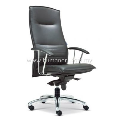 FORCE DIRECTOR HIGH BACK LEATHER CHAIR WITH ALUMINIUM DIE-CAST BASE ASE 300