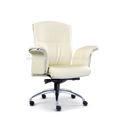 LEADER DIRECTOR LOW BACK LEATHER CHAIR WITH CHROME TRIMMING LINE ASE 2063