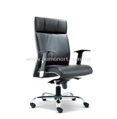 MIGHT DIRECTOR MEDIUM BACK LEATHER CHAIR WITH CHROME TRIMMING LINE