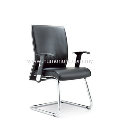 MIGHT DIRECTOR VISITOR LEATHER CHAIR C/W CHROME CANTILEVER BASE