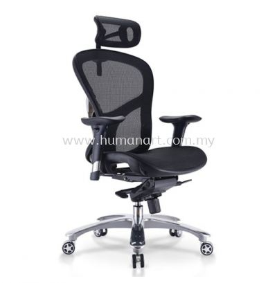 STELLAR 9 HIGH BACK FULLY MESH ERGONOMIC CHAIR WITH ALUMINIUM DIE CAST BASE