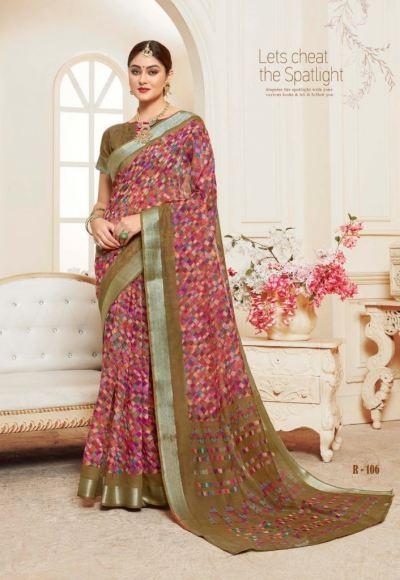 LINEN SAREE ( MULTICOLOUR )