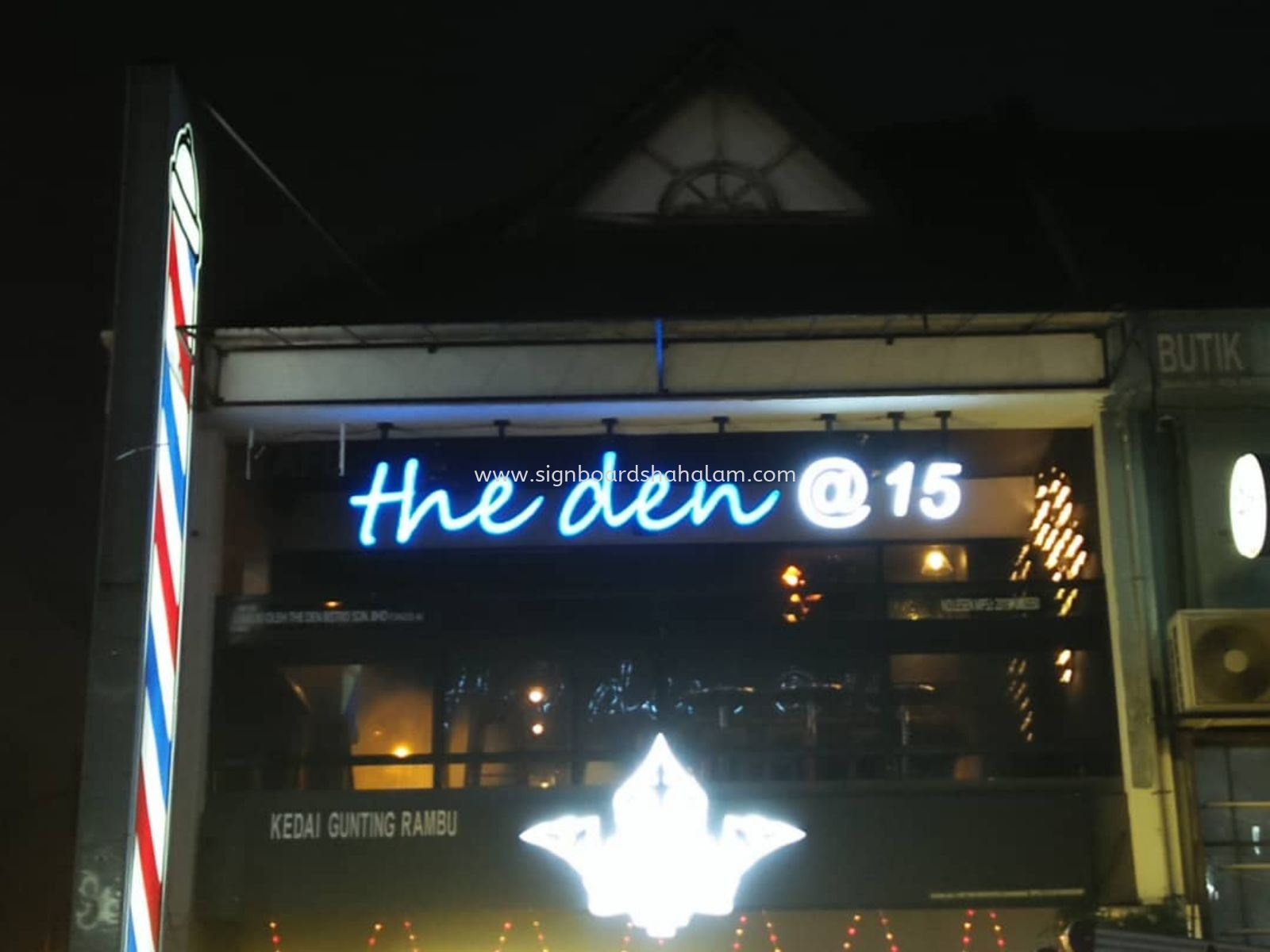 The Den cafe, Ss15 3D Led Box Up Signage