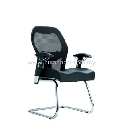 MANSION VISITOR ERGONOMIC MESH CHAIR WITH CHROME CANTILEVER BASE ACL 7003