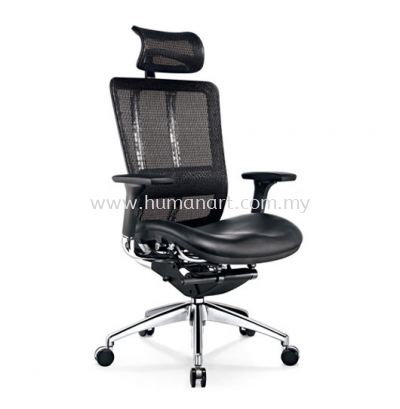 FUTURE HIGH BACK ERGONOMIC MESH CHAIR WITH ALUMINIUM BASE BACK SUPPPORT & ADJUSTABLE HANDLE AFT-1L