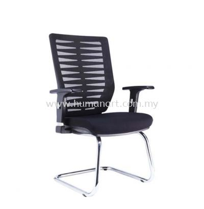 LEAF 2 VISITOR MESH CHAIR WITH CHROME CANTILEVER BASE