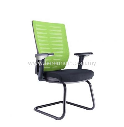 LEAF 1 VISITOR MESH BACK CHAIR C/W EPOXY BLACK CANTILEVER BASE