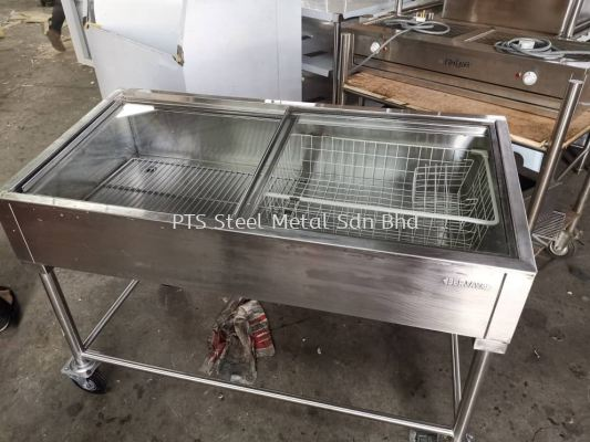 USED S/S SEAFOOD DISPLAY STAND