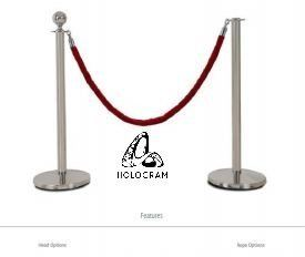 QP11+QR15B/QR15R Q UP STAND WITH VELVET ROPE