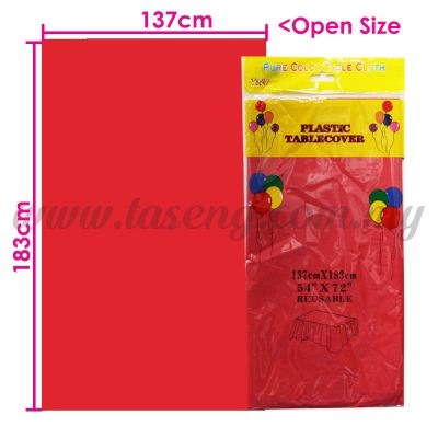 Plastic Table Cover Red (P-TC4-R)