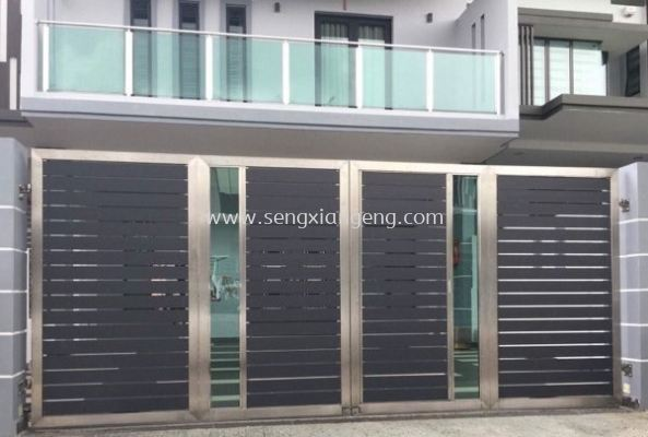 Stainless Steel Folding Main Gate