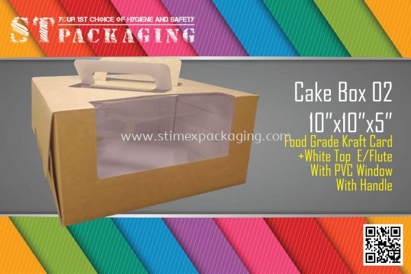 "Cake Box 02 10""x10""x5"" @ 15pcs x RM5.40/pc"