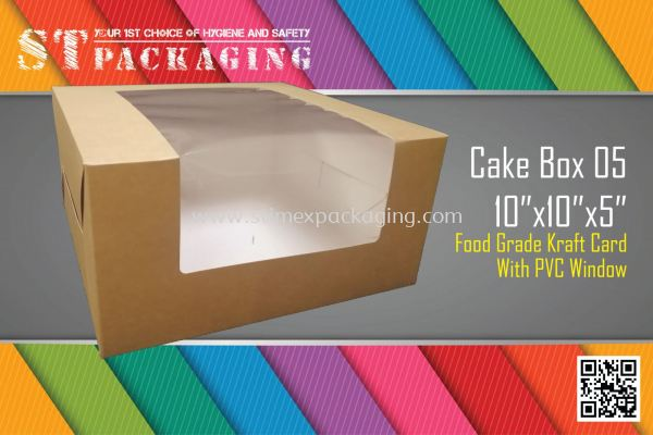 "Cake Box 05 10""x10""x5"" @ 15pcs x RM4.60/pc"