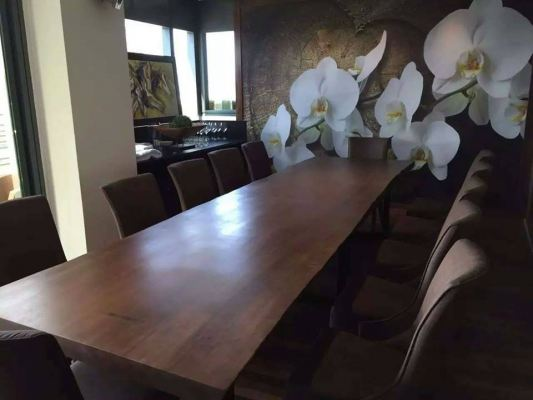 Solid Wood Table Slab Dining