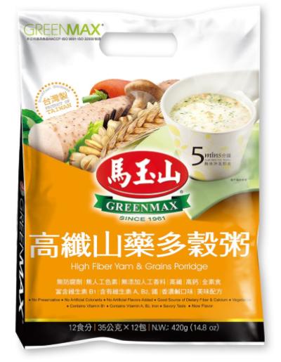 Greenmax High Fiber Yam & Grains Porridge