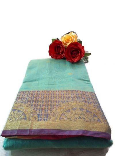 COTTON BIG BORDER SAREE
