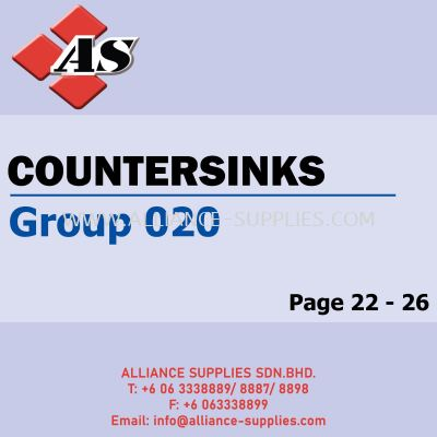 Countersinks (Group 020)