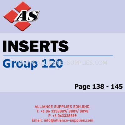 Inserts - ISO Milling / ISO Turning (Group 120)